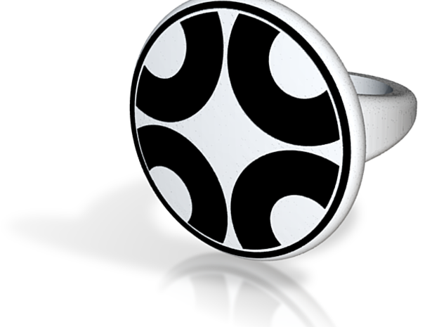 """Dazzle """"Four Segment"""" Pattern Ring - Size 11.5 3d printed"""