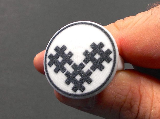 """Dazzle """"Hash"""" Pattern Ring - Size 11.5 3d printed"""