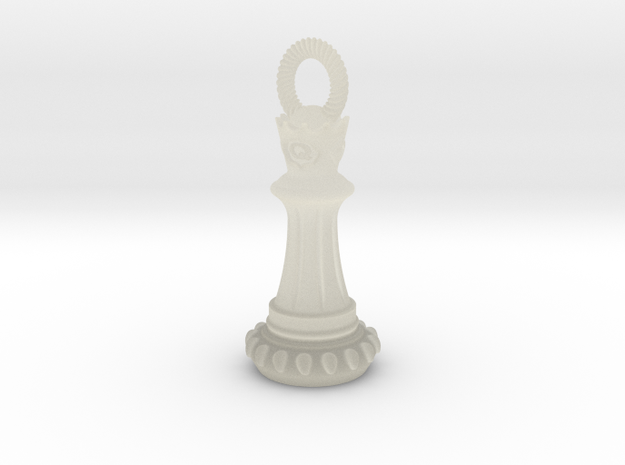 Chess Queen Pendant 3d printed