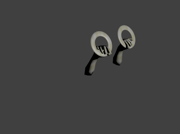 Hands Earrings 3d printed