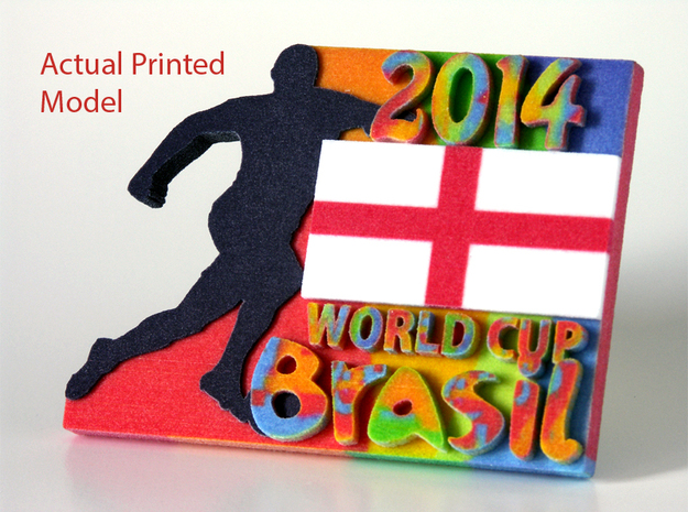 2014 World Cup - England 3d printed Printed Model