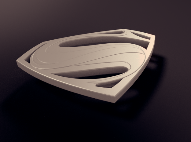 Man Of Steel - Double Sided 3d printed Rendered View