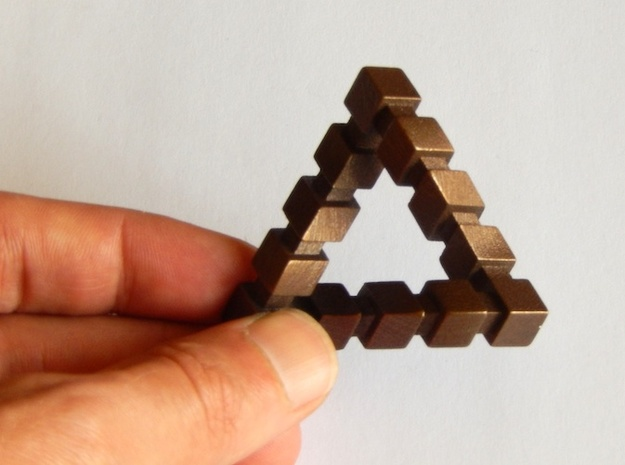 Impossible Triangle, Cubed 3d printed It is 5cm wide approximately