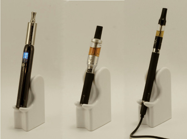 E-Cig Cradle: The Nicolounger, box style 3d printed This is glazed ceramic