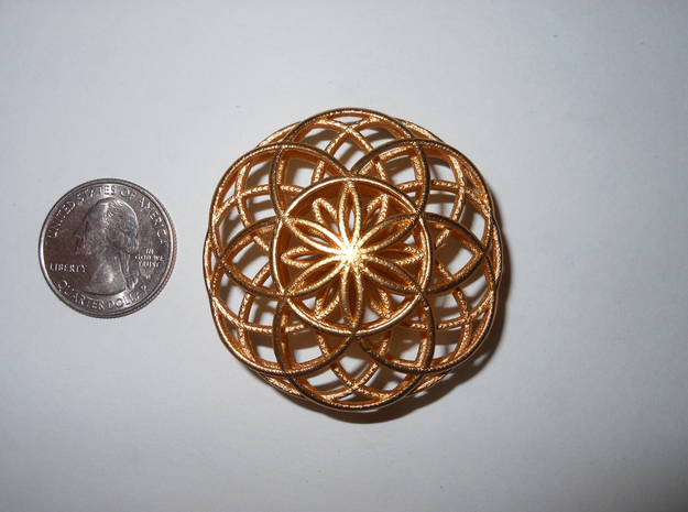 Flower of Life Charm 3d printed
