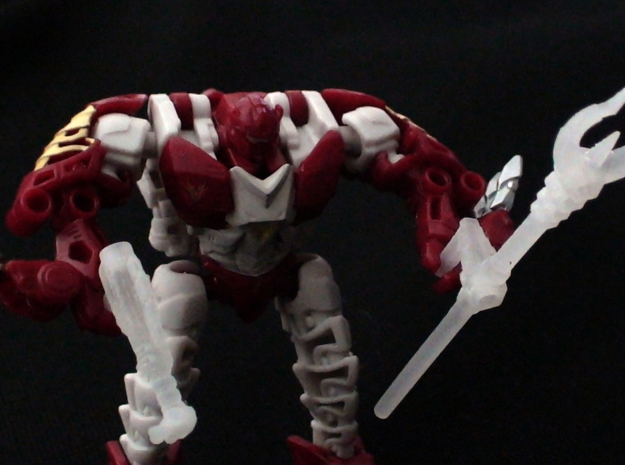 Transformers Beast Hunters Legion Abominus Arsenal 3d printed Hun-Grr carrying the sludgethrower and metalmuncher trident.