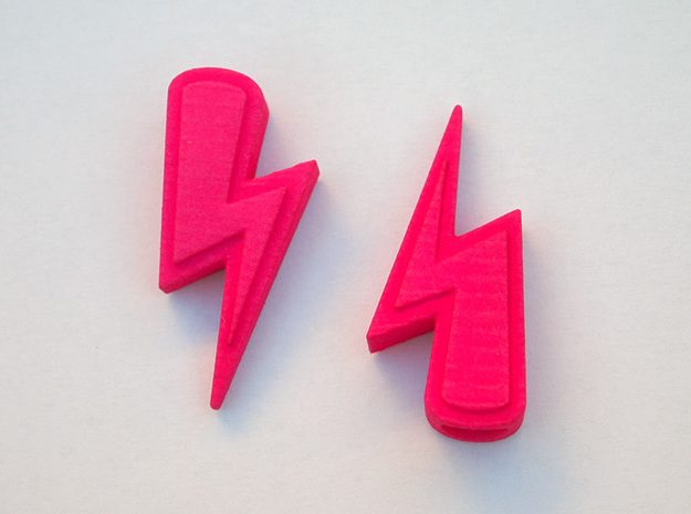 Lightning Valve Caps 3d printed Hot Pink Strong & Flexible