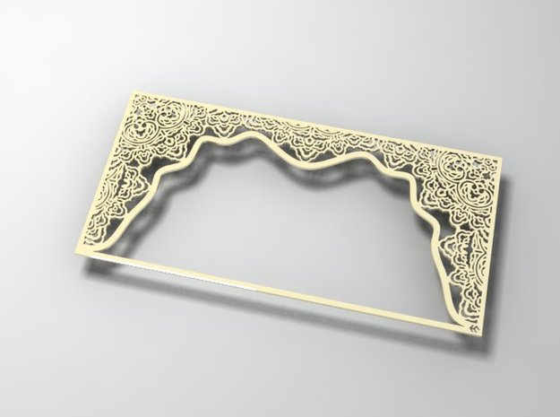 Ornate frame 3d printed in shiny gold finish