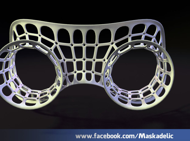 Party Mask 'Lunar Explorer' 3d printed Lunar Explorer front
