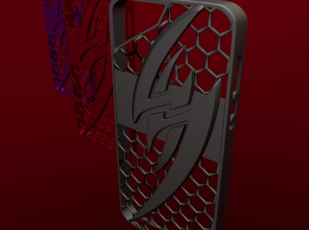 Kazama Iphone 5 Case 3d printed render 2