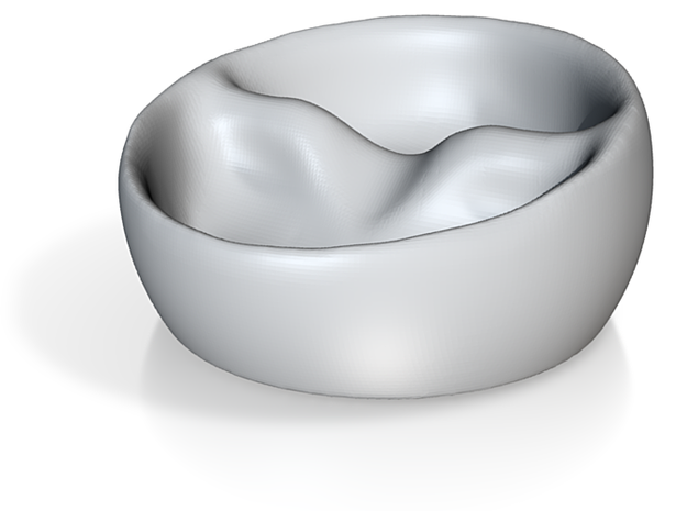 Tilted Double Bowl (no soggy cereal!) 3d printed