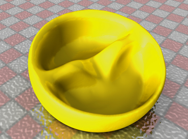 Tilted Double Bowl (no soggy cereal!) 3d printed render