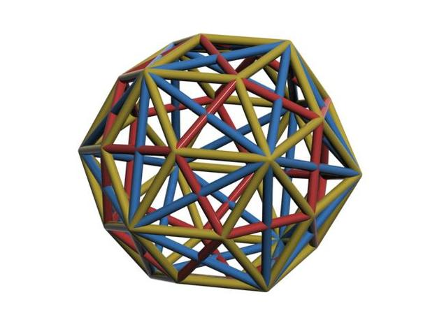 Triacontahedron 3d printed CG Rendering I can have more than one line here. Cool isn't it ?