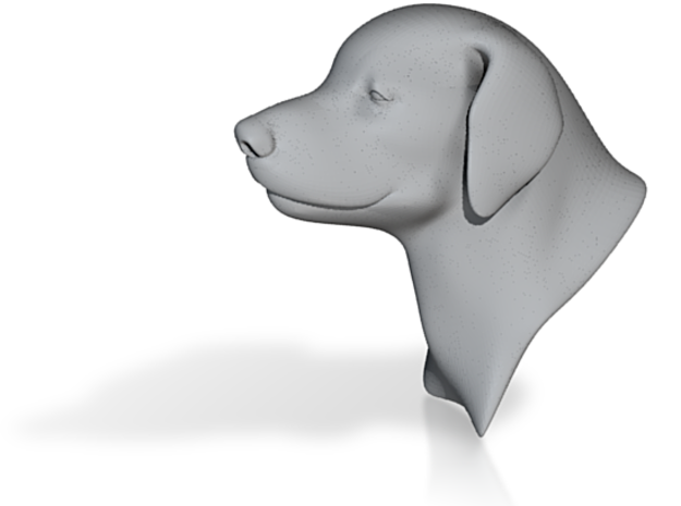 "Young Labrador Bust 3"" tall 3d printed"