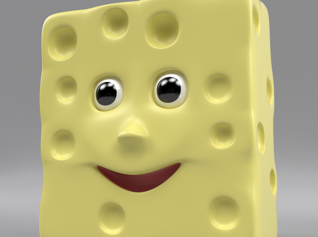 Monsieur Fromage toy character 3d printed