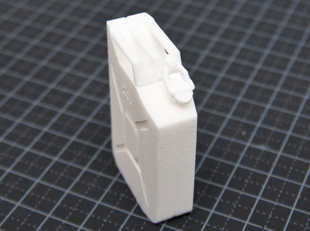 NATO 20L Jerry Can 1/10 Scale 3d printed White Strong Flexible printed version - Top/front
