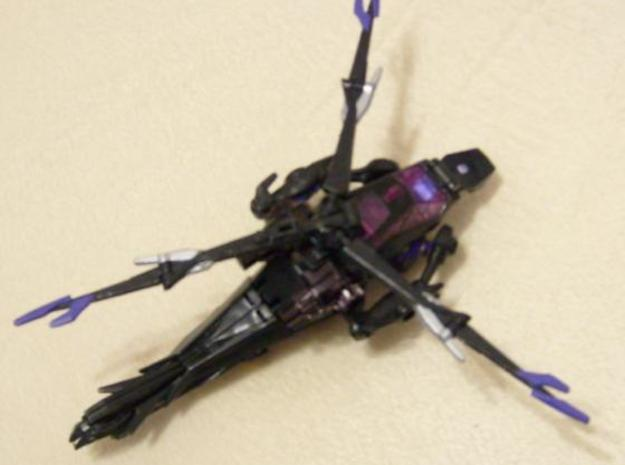 Deluxe Airachnid shoulder joint to hold RiD Arcee 3d printed Arcee's arms on Airachnid in Helicopter mode.