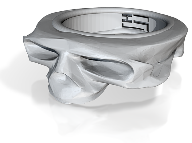 Splitted Skull ring 3d printed