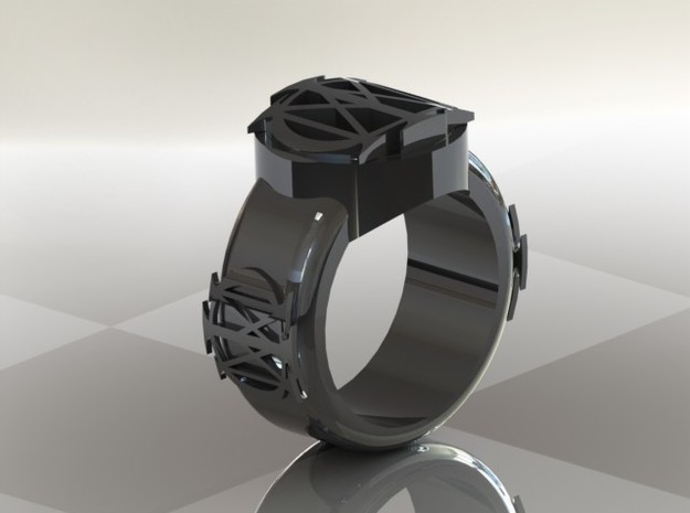 Dreamtheater Majesty Ring Size 14.5 3d printed