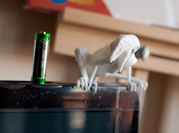 Compy dinosaur desktop figurine 3d printed TV is 43""