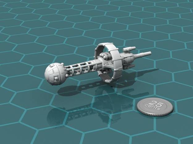 Belter Cruiser 3d printed Render of the model, with a virtual quarter for scale.