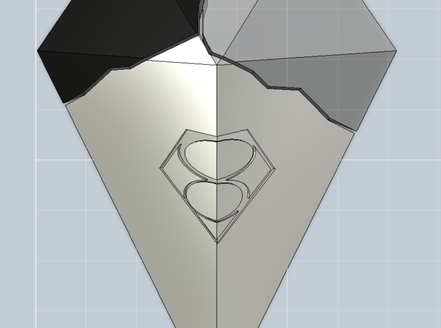 1/6th Smallville - Crystal Of Air 3d printed Shown with other two crystals