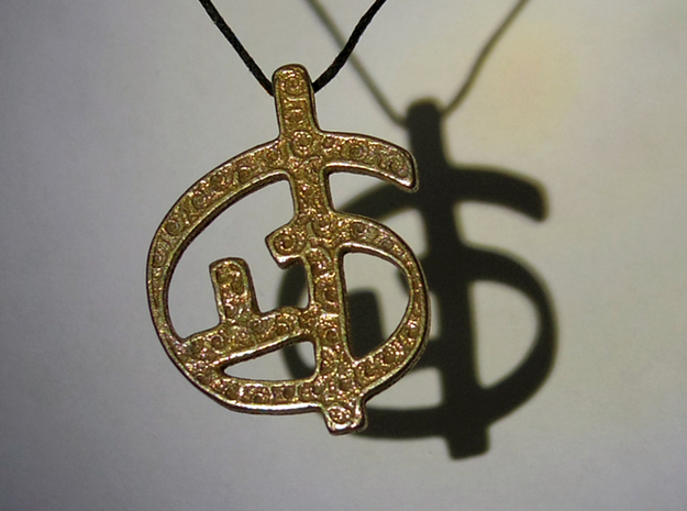 Zoran's Equation Pendant 3d printed Stainless Steel