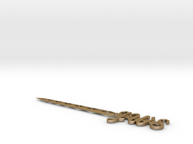 Letter Opener with custom initials on handle. 3d printed