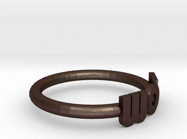 Mom Wow Ring 3d printed