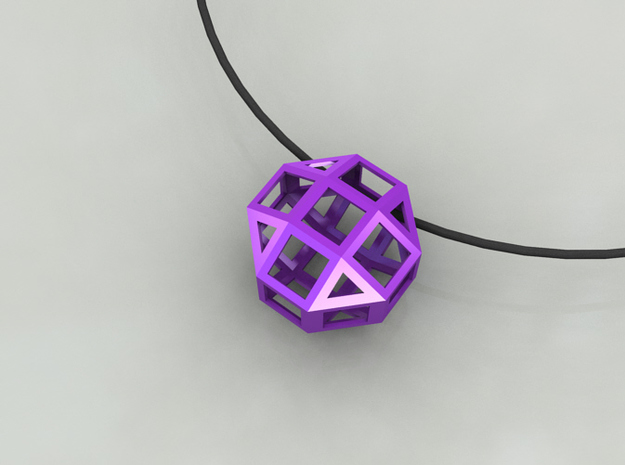 Geometric Pendant 3d printed Purple