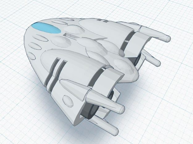 BR-2B Super Heavy (w/ advanced def. arrays) 3d printed Tier 3 Heavy Ship REGULATION XIA SPEC