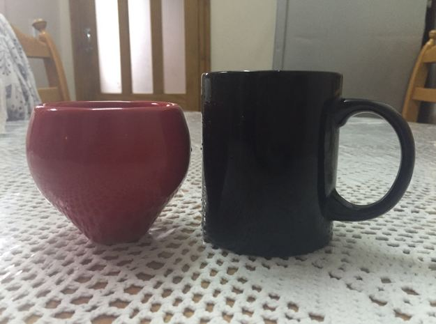Cup and ringed coaster 3 3d printed