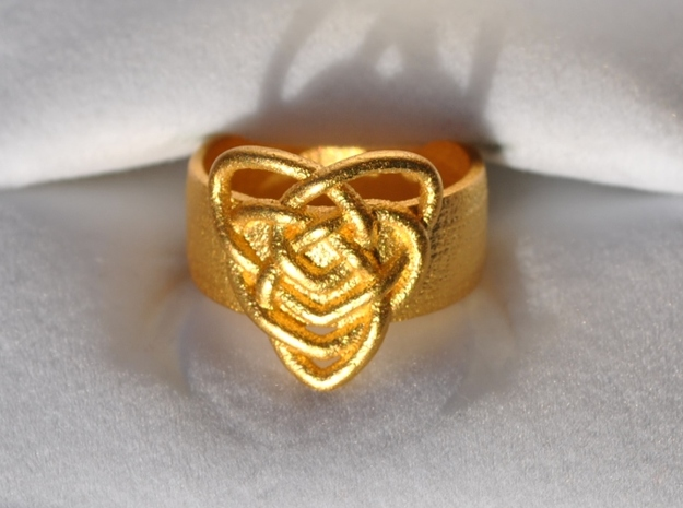 Celtic Mother's Knot Ring Size 7 3d printed Size 7