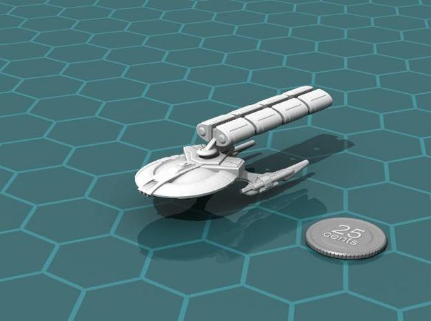 Xuvaxi Distributor 3d printed Render of the model, with a virtual quarter for scale.