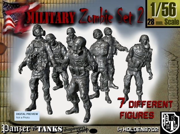 1-56 Seven Military Zombies Set2