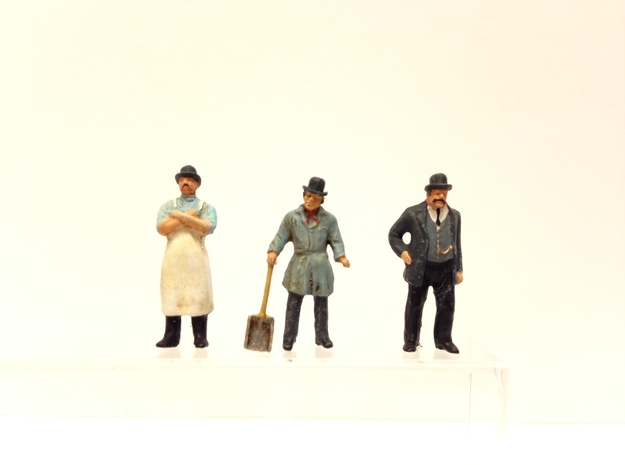 Bowler and Top hats large assortment HO scale 1:87 3d printed