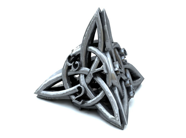 Celtic D4 3d printed 3D Render