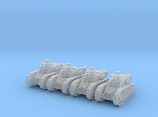 6mm WW1 Renault tank 3d printed