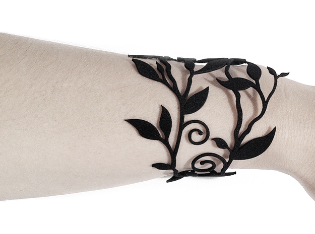 Branche Bracelet (MEDIUM) 3d printed Black Strong & Flexible version