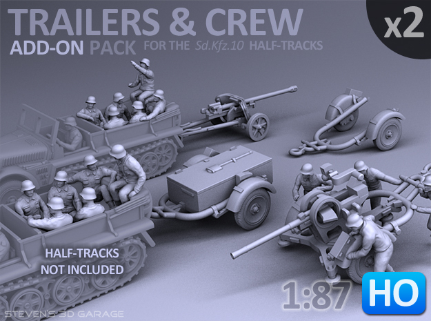 Trailers & Crew : Add-on (2 pack) - 1:87 - HO