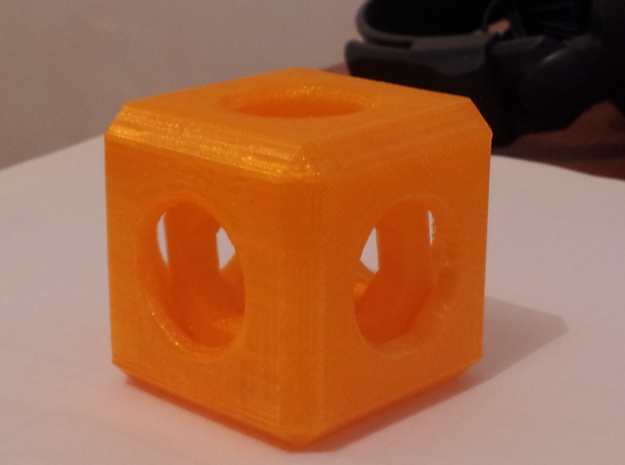 Dice 2-in-1 3d printed PLA test
