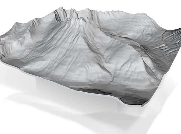 3'' Mt. Wilbur Terrain Model, Montana, USA 3d printed