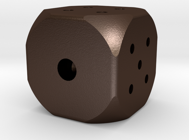 Hollow Rounded Six-sided Die 3d printed