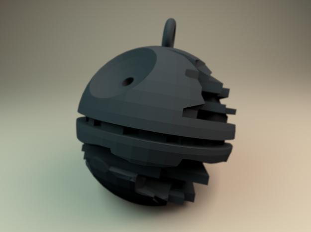 Death star medallion 3d printed Rendered in Matte Black