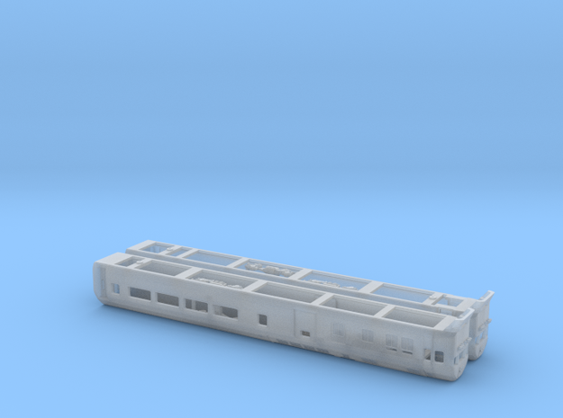 NZ120 Silver fern Railcar (1/3) 3d printed Printed in Frosted Detail