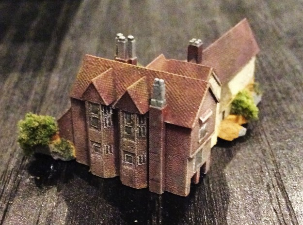 1:700 Scale Moat Hall, Parham, Suffolk