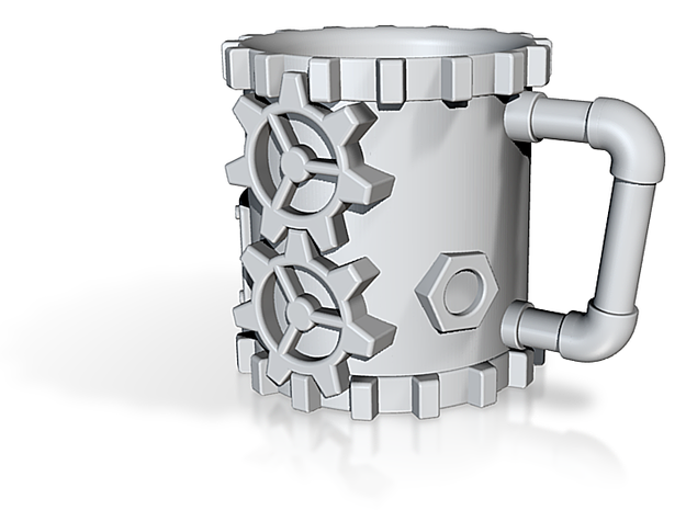 Steampunk Coffee Mug 3d printed