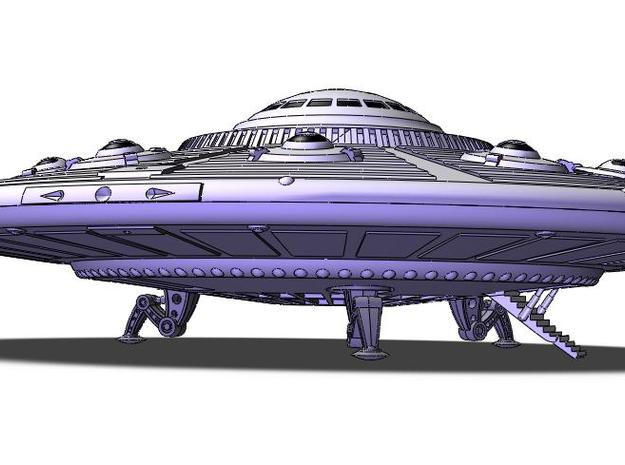 Scout Ship UFO, Flying Saucer Kit-November 3d printed Touchdown!