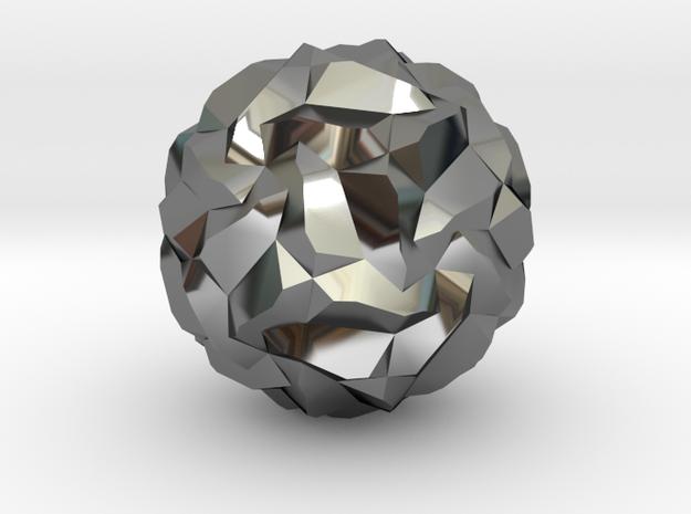 Stellated Pentagonal Hexecontahedron, hollowed 3d printed