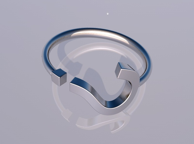 Question Mark Ring Size 11 3d printed render